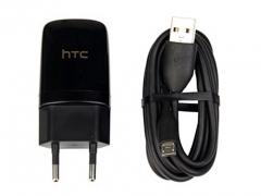 شارژر اصلی ميكرو يو اس بی همراه کابل اچ تی سی HTC Travel Charger Adapter With Cable