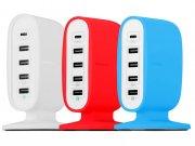 هاب یو اس بی رومیزی 5 پورت مومکس Momax U.Bull 5-USB Charging Station Type-C +Q.C 3.0