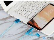 کابل شارژ سه سر سریع مومکس Momax One Link 3in1 USB-A to Micro/Lightning/Type C 1m