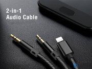کابل صدا mcdodo 2 in 1 audio cable