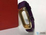 بند سیلیکونی با فریم فلزی دستبند سلامتی شیائومی Xiaomi Mi band 2 Strap With Alloy Frame Silicone Bracelet