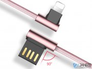 کابل شارژ و انتقال داده راک Rock Dual-end L-shaped Lightning Charge & Sync Cable