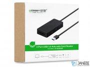 هاب یواس بی و کارتخوان یوگرین Ugreen 3-Ports USB 3.0 Hub With Card Reader