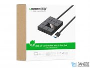 هاب یواس بی و کارتخوان یوگرین Ugreen US220 USB 3.0 Card Reader With 3-Port Hub
