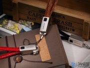 کابل شارژ و انتقال داده راک طرح جاکلیدی Rock Lightning Leather Cable With KeyChain