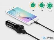 شارژر فندکی سریع یوگرین Ugreen CD114 20757 30W Quick Charge 2.0 Dual Port USB Car Charger