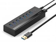 هاب یو اس بی 7 پورت یوگرین Ugreen 7 Ports 3.0 USB HUB Power Adapter