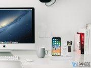 پایه شارژ اپل واچ، آیفون و ایرپاد Coteetci 3 in 1 Aluminum Desktop Charging Station