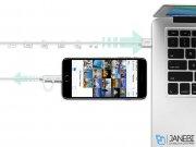 کابل شارژ و انتقال داده دو سر میکرو یو اس بی و لایتنینگ یوگرین Ugreen US165 Micro USB To USB Cable With Lightning Adapter 1.5M