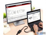 مبدل اچ دی ام آی و یو اس بی به دیسپلی یوگرین Ugreen MM107 HDMI & USB To Display Port Converter 4Kx2K