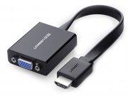 مبدل اچ دی ام آی به وی جی ای و صدا و میکرو یو اس بی یوگرین Ugreen HDMI to VGA & 3.5MM Audio & Mirco USB Converter