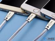کابل سه سر هوکو Hoco U9 Zinc Alloy Jelly Knitted Charging Cable 1.5m