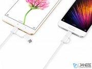 کابل شارژ و انتقال داده دو سر شیائومی Xiaomi ZMI Micro USB And Type-C Cable AL501