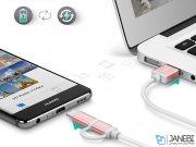 کابل شارژ سریع دو سر میکرو یو اس بی و تایپ سی یوگرین Ugreen US177 30543 Micro USB Cable with USB-C Adapter 1M