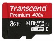 رم میکرو اس دی 8 گیگابایت ترنسند Transcend 8GB microSDHC Premium 400X Class 10