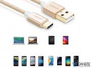 کابل تبدیل یو اس بی به تایپ سی یوگرین Ugreen US174 20814 USB 2.0 To USB-C Nylon Cable 2M