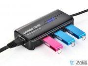 هاب اترنت و یو اس بی یوگرین Ugreen 20264 USB 2.0 Ethernet + 3 Ports USB 2.0 Hub