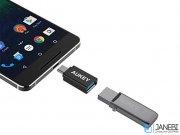 مبدل دوتایی یو اس بی به تایپ سی آکی Aukey USB 3.0 to C Adapter CB-A1 2Pack