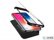 قاب محافظ و محافظ صفحه شیشه ای اسپیگن آیفون Spigen Thin Fit 360 Case Apple iPhone X