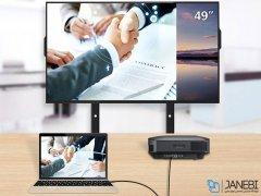 کابل مبدل تایپ سی به اچ دی ام آی راک RockSpace USB-C To HDMI Cable 1.8m