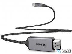 کابل تایپ سی به اچ دی آم آی بیسوس Baseus Video Type-C Male To HDMI Male Cable 1.8m