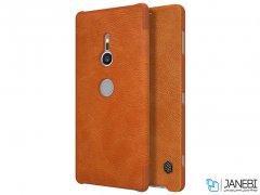 کیف چرمی نیلکین سونی Nillkin Qin leather Case Sony Xperia XZ2