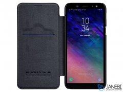 کیف چرمی نیلکین سامسونگ Nillkin Qin Leather Case Samsung Galaxy A6 2018