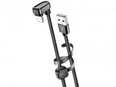 کابل شارژ لایتنینگ راک Rock U-Shaped Metal Lightning Charge & Sync Cable