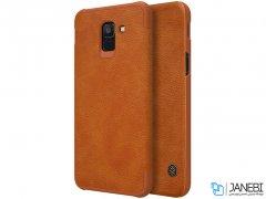 کیف چرمی نیلکین سامسونگ Nillkin Qin Leather Case Samsung Galaxy J6