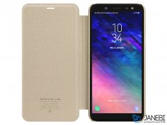 کیف نیلکین سامسونگ Nillkin Sparkle Leather Case Samsung Galaxy A6 Plus 2018
