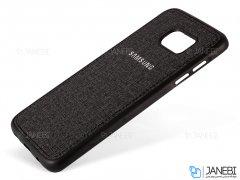 قاب محافظ طرح پارچه ای سامسونگ Protective Cover Samsung Galaxy S7 Edge