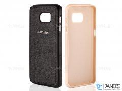 قاب محافظ طرح پارچه ای سامسونگ Protective Cover Samsung Galaxy S7