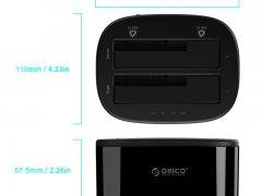 داک هارددیسک اینترنال اوریکو Orico 2.5-3.5 inch 2 Bay USB3.0 Hard Drive Dock 6228US3-C