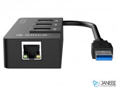 هاب اترنت و یو اس بی اوریکو Orico USB3.0 Gigabit Ethernet Adapter HR01-U3