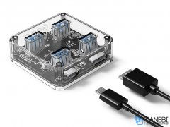 هاب یو اس بی 4 پورت اوریکو Orico 4 Port USB3.0 Transparent HUB MH4U-U3