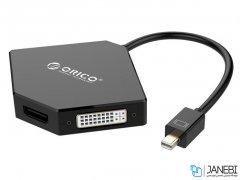 مبدل مینی دیسپلی پورت به اچ دی ام آی و دی وی آی و وی جی ای اوریکو Orico DMP-HDV3S Mini DisplayPort to HDMI/DVI/VGA Adapter DMP