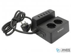 چند راهی 2 سوکت و 5 یو اس بی اوریکو Orico 2 AC with 5 USB Charging Port ODC-2A5U-V1-EU