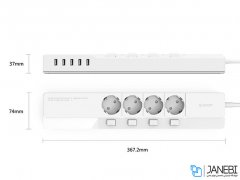 چند راهی 4 سوکت و 5 یو اس بی اوریکو Orico 4 AC with 5 USB Charging Port OSJ-4A5U-EU