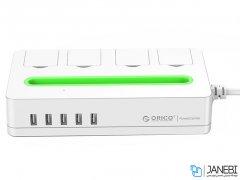 چند راهی 4 سوکت و 5 یو اس بی اوریکو Orico 4 AC with 5 USB Charging Port DST-4A5U