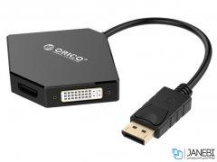 مبدل دیسپلی پورت به اچ دی ام آی و دی وی آی و وی جی ای اوریکو Orico DisplayPort to HDMI / DVI / VGA Adapter DPT-HDV3