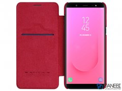 کیف چرمی نیلکین سامسونگ Nillkin Qin Leather Case Samsung Galaxy J8