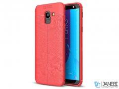 قاب ژله ای طرح چرم سامسونگ Becation Auto Focus Case Samsung Galaxy J6