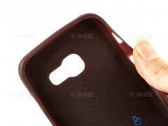 قاب ژله ای سوزنی چرمی سامسونگ Samsung Galaxy A3 2017 Jelly Leather Cover