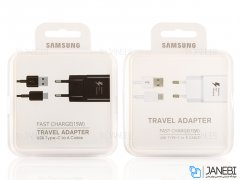 شارژر و کابل اصلی سامسونگ Samsung Fast Charging With Type-C Cable