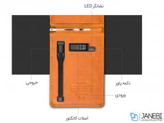 پاور بانک و کیف چرمی Zhuse Blade Series ZS-PB-023 4000mAh Power Bank And Leather Bag