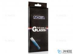 محافظ صفحه نمایش شیشه ای تمام چسب نوکیا Full Glass Screen Protector Nokia 3.1