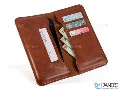 کیف چرمی چند منظوره و گوشی موبایل تا سایز 6.3 اینچ JDK Universal Wallet Leather Mobile Cover