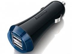 شارژر فندکی فیلیپس با دو پورت USB