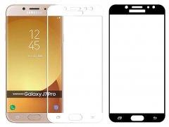 محافظ صفحه نمایش شیشه ای تمام چسب سامسونگ Full Glass Screen Protector Samsung Galaxy J7 Pro