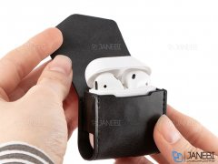 کاور چرمی شارژر ایرپاد Coteetci Magnetic PU Case With Hook AirPods
